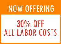 30% off all labor costs discount offer